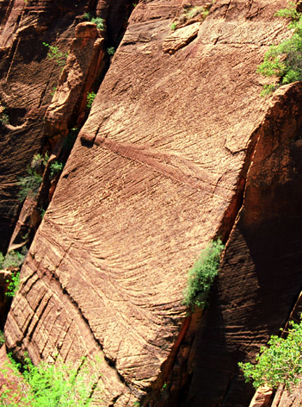 Close-up of Large-Scale Crossbedding in the Navajo Sandstone