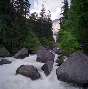 Vernal Falls and Merced River