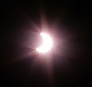 Close-up of the Eclipse of June 10, 2002