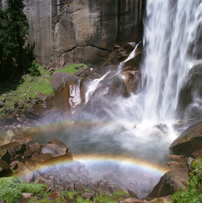 Double Rainbow under Vernal Falls