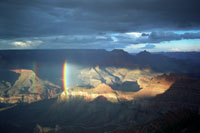 Double Rainbow in the Grand Canyon
