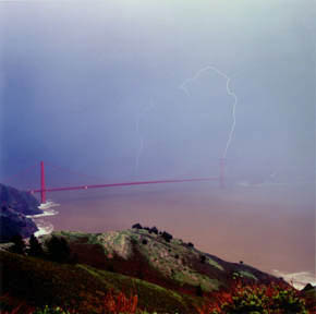 Golden Gate Lightning Strike