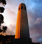 Coit Tower Stormy Sky