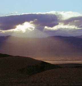 Sun Rays on Panamint Valley