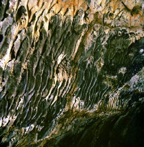 Multicolored Lava Stalactites, Hopkins Chocolate Cave