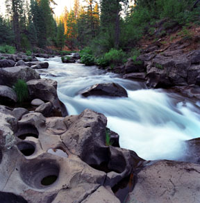 Potholes in Basalt, Falls of the McCloud River