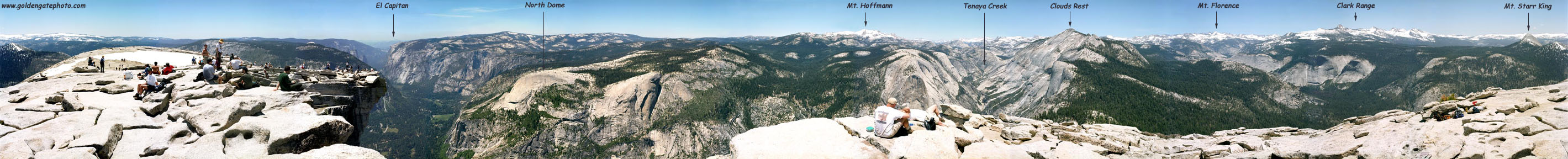 360 Degree view from the top of Half Dome